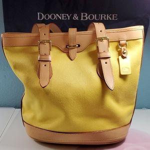 Dooney & Bourke Yellow Canvas Purse
